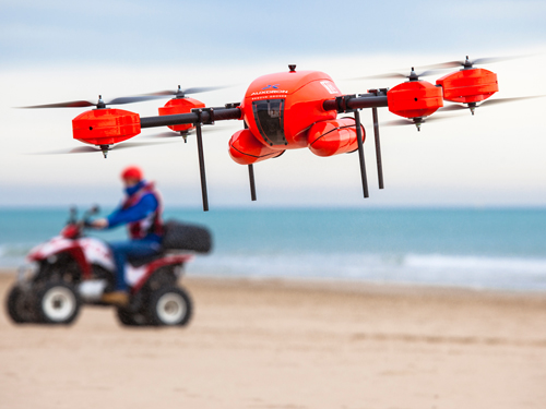 AUXdron, the first drone specially designed for beach rescue