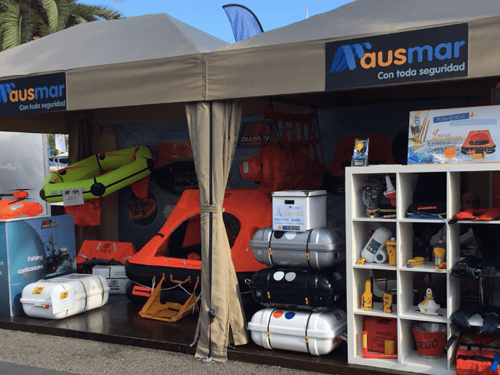 Ausmar presented its new life-rafts at The Barcelona Boat Show